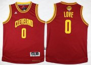 Wholesale Cheap Men's Cleveland Cavaliers #0 Kevin Love Red 2017 The NBA Finals Patch Jersey