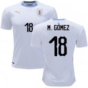 Wholesale Cheap Uruguay #18 M.Gomez Away Soccer Country Jersey