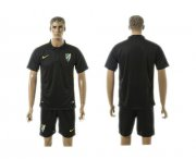 Wholesale Cheap Malaga Blank Black Training Soccer Club Jersey