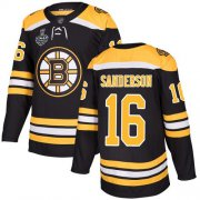 Wholesale Cheap Adidas Bruins #16 Derek Sanderson Black Home Authentic Stanley Cup Final Bound Stitched NHL Jersey