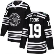 Wholesale Cheap Adidas Blackhawks #19 Jonathan Toews Black Authentic 2019 Winter Classic Stitched Youth NHL Jersey