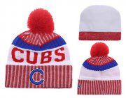 Wholesale Cheap MLB Chicago Cubs Logo Stitched Knit Beanies 005