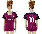 Wholesale Cheap Women's Manchester City #18 Delph Away Soccer Club Jersey