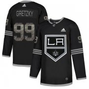 Wholesale Cheap Adidas Kings #99 Wayne Gretzky Black Authentic Classic Stitched NHL Jersey