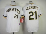 Wholesale Cheap Pirates #21 Roberto Clemente White Alternate 2 Cool Base Stitched MLB Jersey