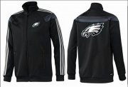 Wholesale Cheap NFL Philadelphia Eagles Team Logo Jacket Black_4