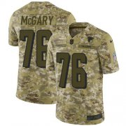Wholesale Cheap Nike Falcons #76 Kaleb McGary Camo Men's Stitched NFL Limited 2018 Salute To Service Jersey