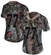 Wholesale Cheap Nike Jets #77 Mekhi Becton Camo Women's Stitched NFL Limited Rush Realtree Jersey