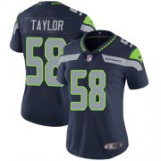 Wholesale Cheap Nike Seahawks #58 Darrell Taylor Steel Blue Team Color Women's Stitched NFL Vapor Untouchable Limited Jersey