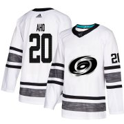 Wholesale Cheap Adidas Hurricanes #20 Sebastian Aho White Authentic 2019 All-Star Stitched NHL Jersey
