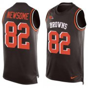 Wholesale Cheap Nike Browns #82 Ozzie Newsome Brown Team Color Men's Stitched NFL Limited Tank Top Jersey