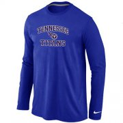 Wholesale Cheap Nike Tennessee Titans Heart & Soul Long Sleeve T-Shirt Blue