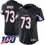 Wholesale Cheap Nike Cardinals #73 Max Garcia Black Alternate Women's Stitched NFL 100th Season Vapor Untouchable Limited Jersey