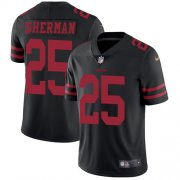 Wholesale Cheap Nike 49ers #25 Richard Sherman Black Alternate Youth Stitched NFL Vapor Untouchable Limited Jersey