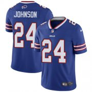 Wholesale Cheap Nike Bills #24 Taron Johnson Royal Blue Team Color Men's Stitched NFL Vapor Untouchable Limited Jersey