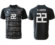 Wholesale Cheap Mexico #22 H.Lozano Black Soccer Country Jersey