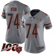 Wholesale Cheap Nike Bears #74 Germain Ifedi Silver Women's Stitched NFL Limited Inverted Legend 100th Season Jersey