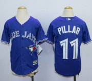 Wholesale Cheap Blue Jays #11 Kevin Pillar Blue Cool Base Stitched Youth MLB Jersey