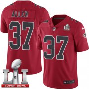 Wholesale Cheap Nike Falcons #37 Ricardo Allen Red Super Bowl LI 51 Youth Stitched NFL Limited Rush Jersey