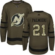 Wholesale Cheap Adidas Devils #21 Kyle Palmieri Green Salute to Service Stitched NHL Jersey