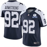 Wholesale Cheap Nike Cowboys #92 Dorance Armstrong Navy Blue Thanksgiving Men's Stitched With Established In 1960 Patch NFL Vapor Untouchable Limited Throwback Jersey