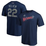 Wholesale Cheap National League #22 Christian Yelich Majestic 2019 MLB All-Star Game Name & Number T-Shirt - Navy