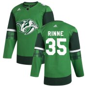 Wholesale Cheap Nashville Predators #35 Pekka Rinne Men's Adidas 2020 St. Patrick's Day Stitched NHL Jersey Green.jpg.jpg