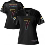 Wholesale Cheap Nike Jaguars #7 Nick Foles Black Women's NFL Fashion Game Jersey