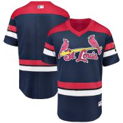 Wholesale Cheap St. Louis Cardinals Majestic 2019 St. Louis Blues Crossover Flex Base Authentic Jersey Navy