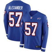 Wholesale Cheap Nike Bills #57 Lorenzo Alexander Royal Blue Team Color Men's Stitched NFL Limited Therma Long Sleeve Jersey
