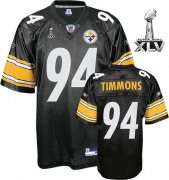 Wholesale Cheap Steelers #94 Lawrence Timmons Black Super Bowl XLV Stitched NFL Jersey