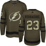 Cheap Adidas Lightning #23 Carter Verhaeghe Green Salute to Service Youth Stitched NHL Jersey