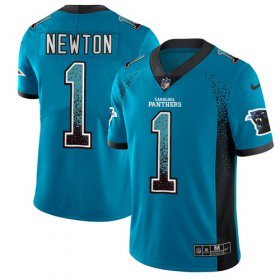 Wholesale Cheap Nike Panthers #1 Cam Newton Blue Alternate Men\'s Stitched NFL Limited Rush Drift Fashion Jersey