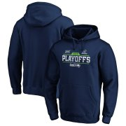 Wholesale Cheap Seattle Seahawks 2019 NFL Playoffs Bound Chip Shot Pullover Hoodie College Navy