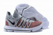 Wholesale Cheap Nike KD 10 Shoes Cool Grey Colors Black