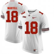 Wholesale Cheap Ohio State Buckeyes 18 Tate Martell White College Football Jersey