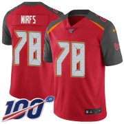 Wholesale Cheap Nike Buccaneers #78 Tristan Wirfs Red Team Color Youth Stitched NFL 100th Season Vapor Untouchable Limited Jersey