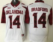 Wholesale Cheap Men's Oklahoma Sooners #14 Sam Bradford White 2016 College Football Nike Limited Jersey