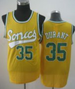 Wholesale Cheap Seattle Supersonics #35 Kevin Durant 2003-04 Yellow Swingman Jersey