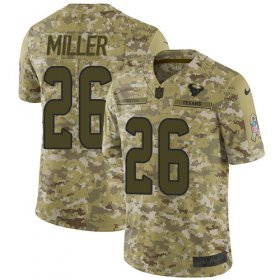 Wholesale Cheap Nike Texans #26 Lamar Miller Camo Youth Stitched NFL Limited 2018 Salute to Service Jersey