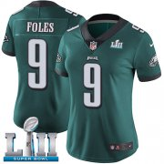 Wholesale Cheap Nike Eagles #9 Nick Foles Midnight Green Team Color Super Bowl LII Women's Stitched NFL Vapor Untouchable Limited Jersey