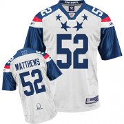 Wholesale Cheap Packers #52 Clay Matthews 2011 White and Blue Pro Bowl Stitched NFL Jersey