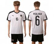 Wholesale Cheap Austria #6 Pehlivan White Away Soccer Country Jersey
