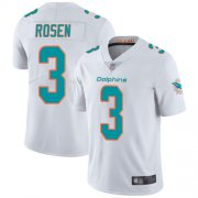 Wholesale Cheap Nike Dolphins #3 Josh Rosen White Men's Stitched NFL Vapor Untouchable Limited Jersey