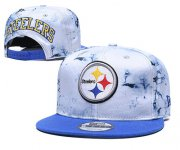 Wholesale Cheap Steelers Team Logo Smoke Blue Adjustable Hat TX