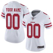 Wholesale Cheap Nike San Francisco 49ers Customized White Stitched Vapor Untouchable Limited Women's NFL Jersey