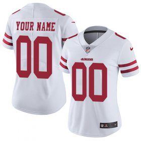 Wholesale Cheap Nike San Francisco 49ers Customized White Stitched Vapor Untouchable Limited Women\'s NFL Jersey