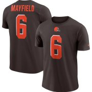 Wholesale Cheap Cleveland Browns #6 Baker Mayfield Nike Player Pride Name & Number Performance T-Shirt Brown
