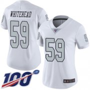 Wholesale Cheap Nike Raiders #59 Tahir Whitehead White Women's Stitched NFL Limited Rush 100th Season Jersey