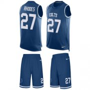 Wholesale Cheap Nike Colts #27 Xavier Rhodes Royal Blue Team Color Men's Stitched NFL Limited Tank Top Suit Jersey